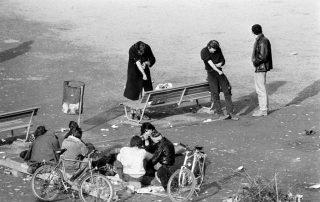 This describes the open drug scene in Switzerlan in the 1980s