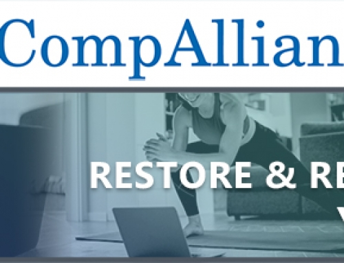 The CompAlliance Restore & Renew Yoga Geared to the Desk-Bound Workers' Compensation Industry Continues!